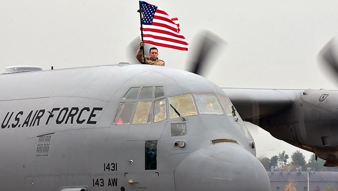 143d Airlift Wing Airmen Return from Deployment